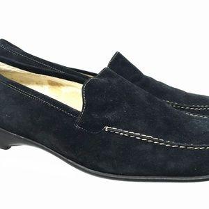 Karen Scott Women Loafer US Size 8M Black Leather